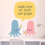 Kinderzimmer Wandtattoo: Octopus nimmt Saft mit Fruchtfleisch 3