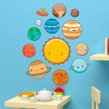 Kinderzimmer Wandtattoo: Raum Planeten Kit 3