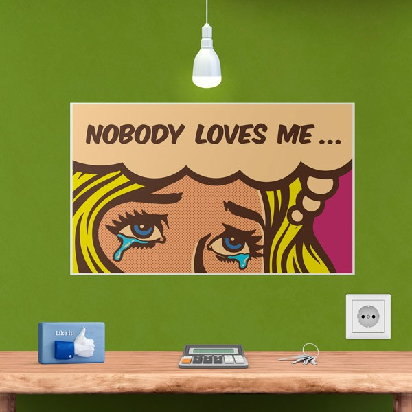 Wandtattoos: Nobody loves me...