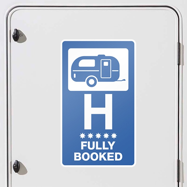 Aufkleber: Hotel Fully Booked