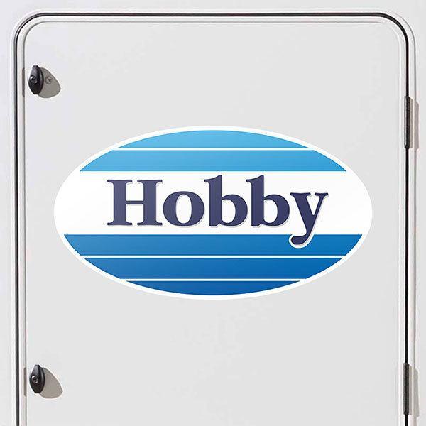 Aufkleber Von Wohnmobil Hobby Logo Webwandtattoocom