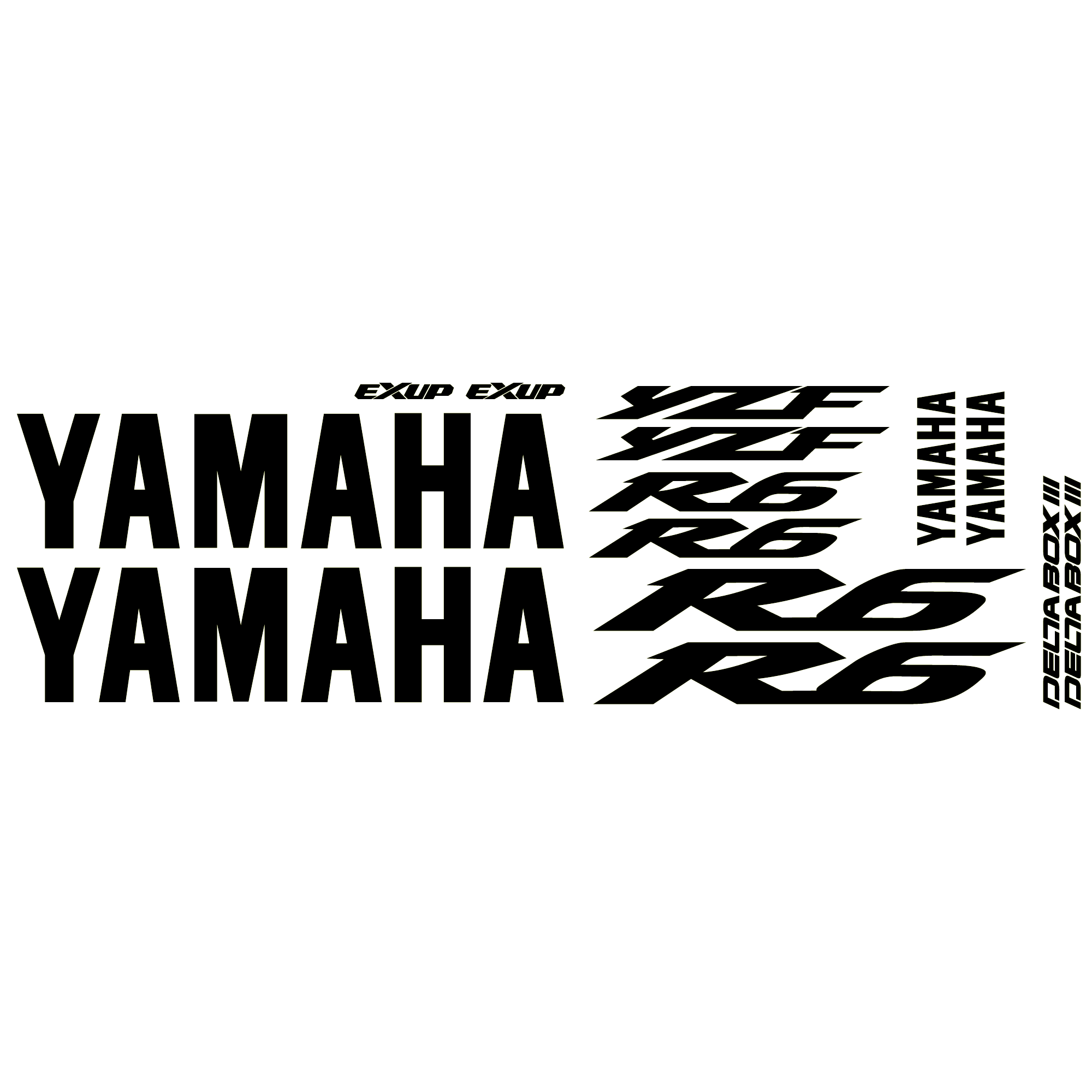 Aufkleber: YZF R6 2003