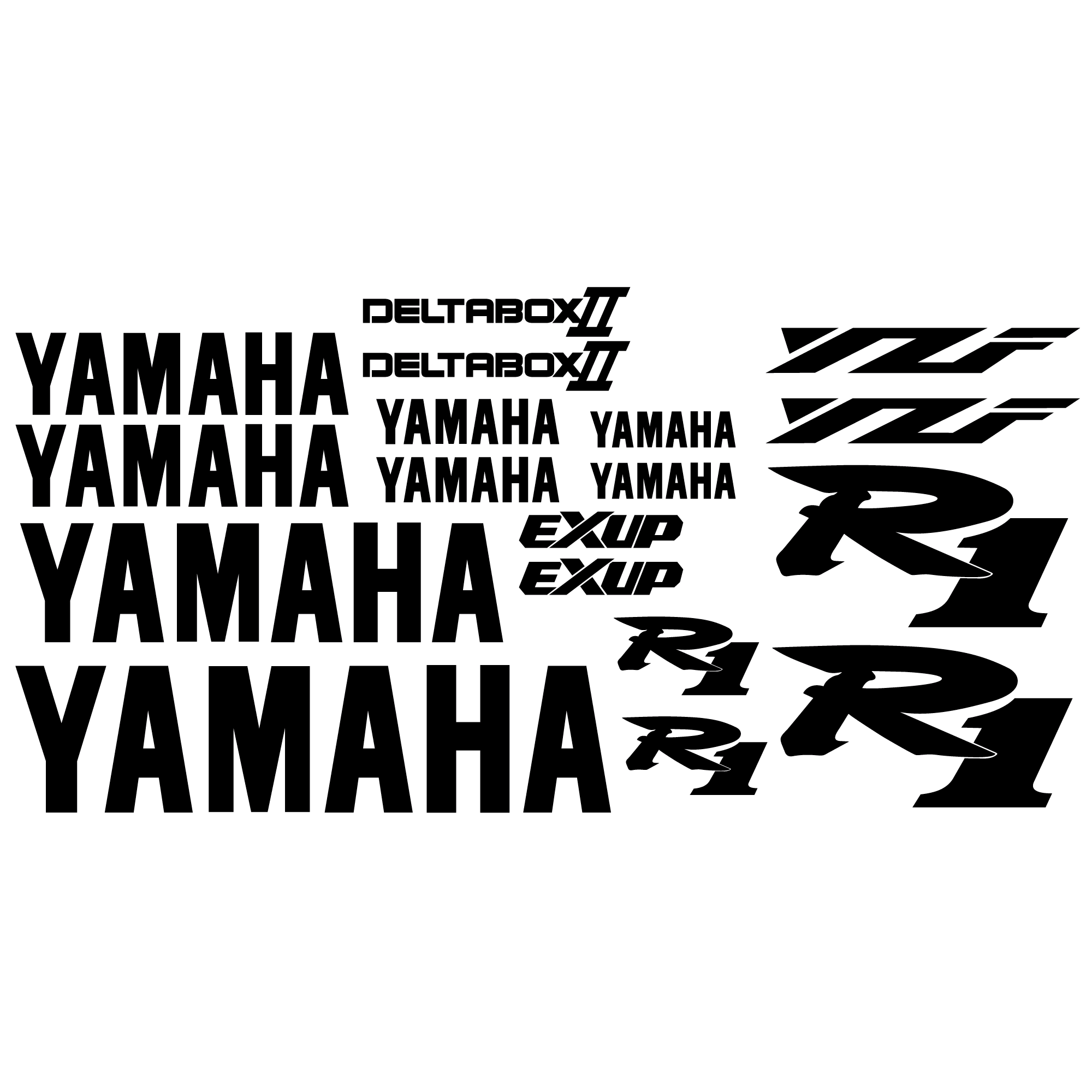 Aufkleber: YZF R1 2001