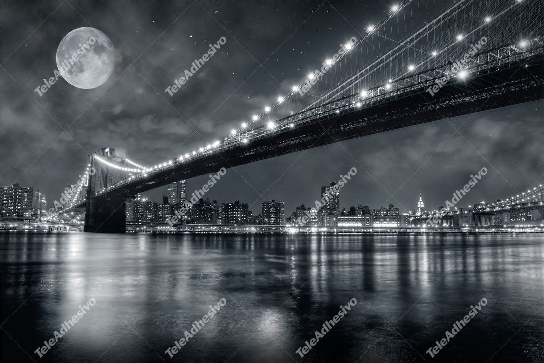 Fototapeten: Big Bridge Nacht