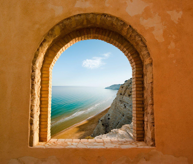 Fototapeten: Fenster zu Meer