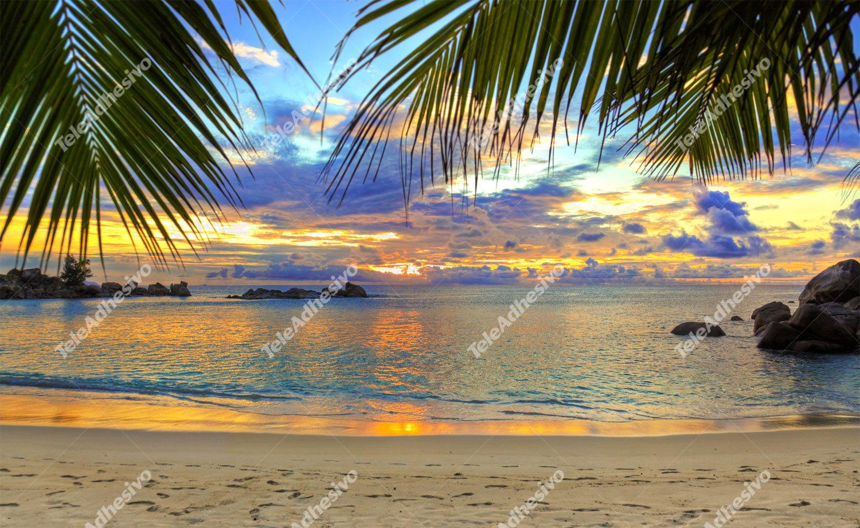 Fototapeten: Atardecer playa