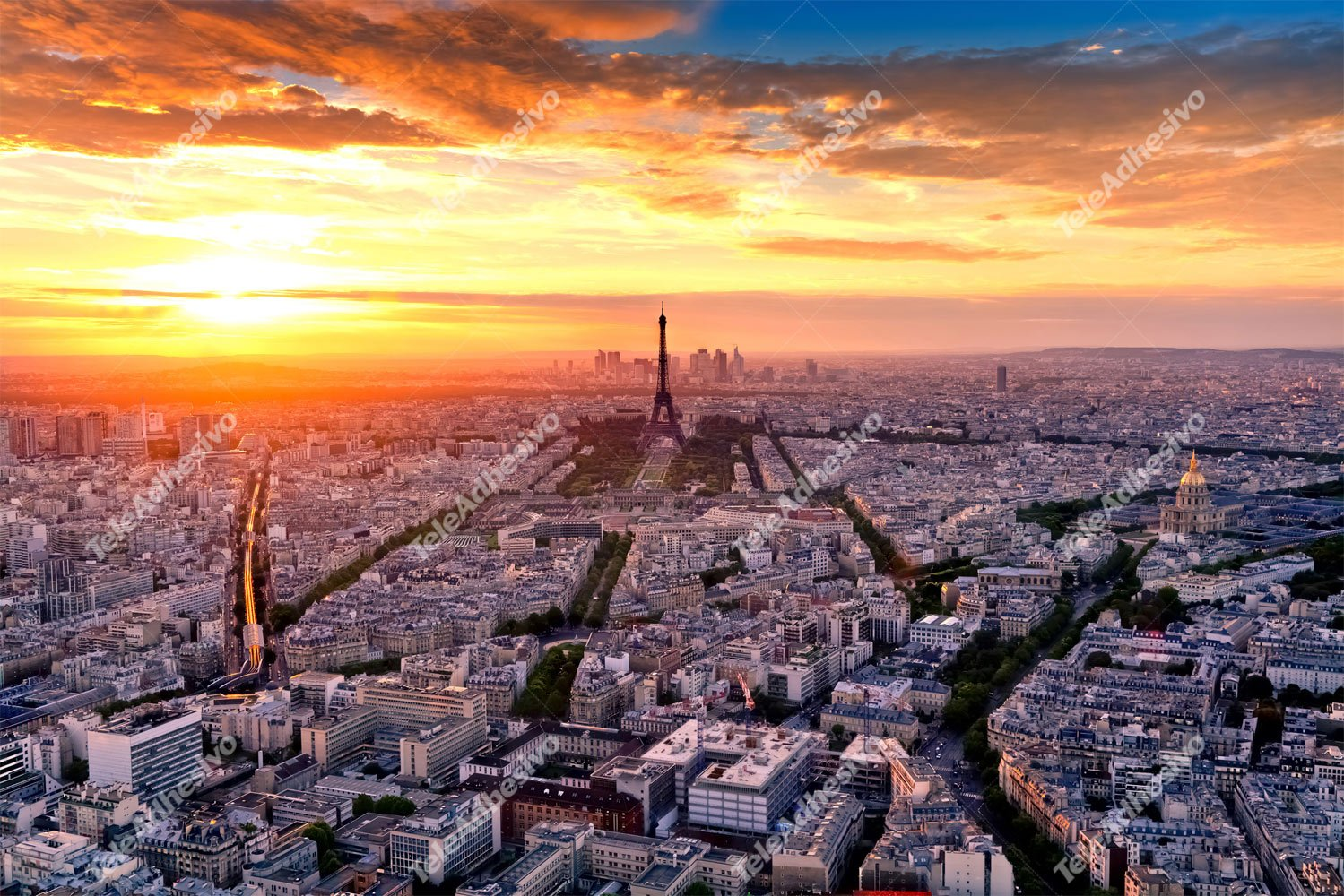 Fototapeten: Paris at sunset