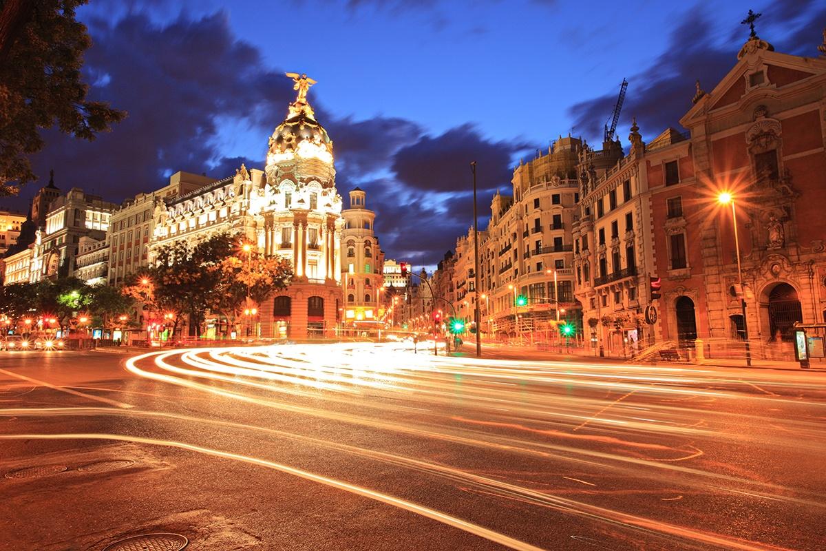 Fototapeten: Gran Vía Madrid