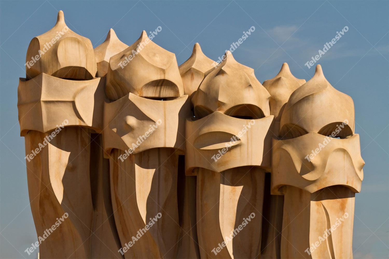 Fototapeten: Chimeneas Gaudi