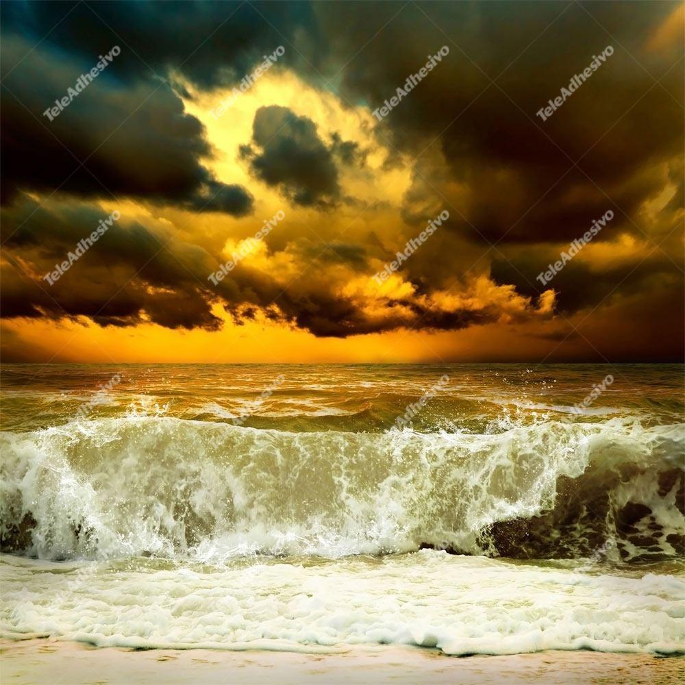 Fototapeten: Welle vor dem Sturm