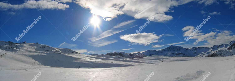 Fototapeten: Berge mit Schnee