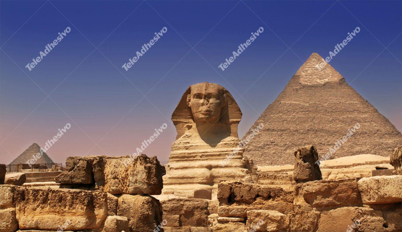 Fototapeten: Sphinx und Pyramiden