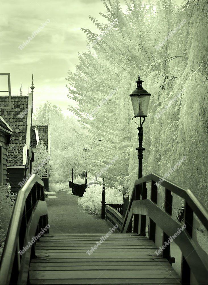 Fototapeten: Holzbrücke