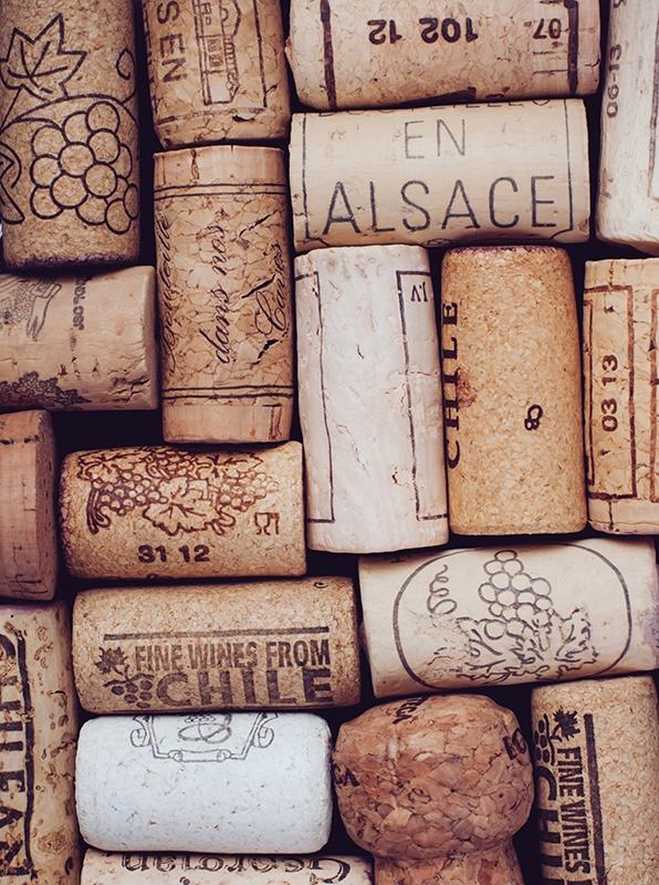 Fototapeten: Weinkorken