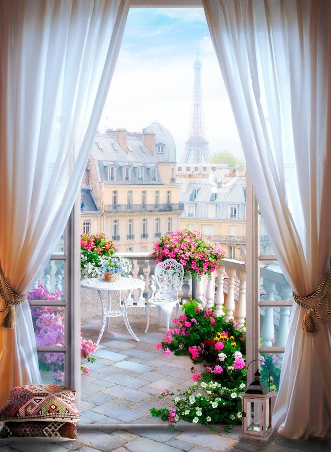 Fototapeten: Terrasse in Paris