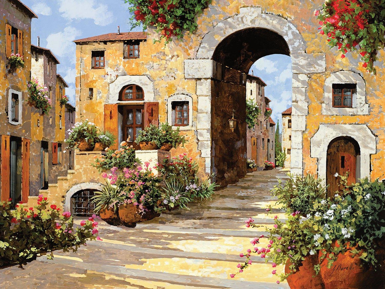 Fototapeten: Der Eingang zum Dorf