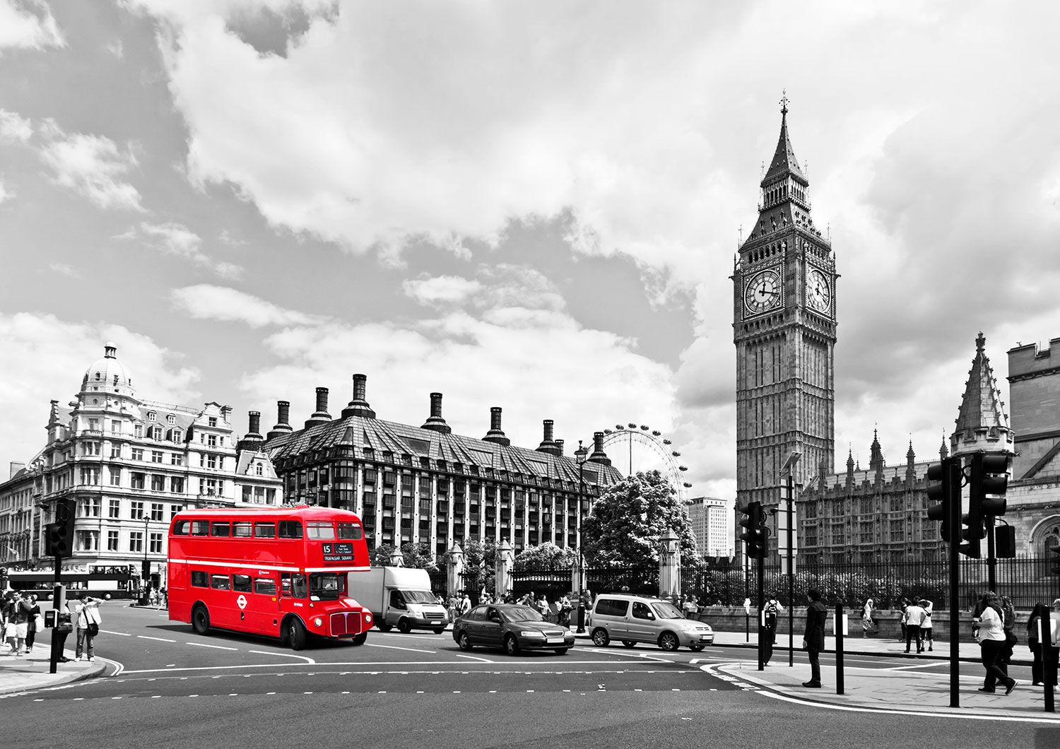 Fototapeten: Bus in Westminster